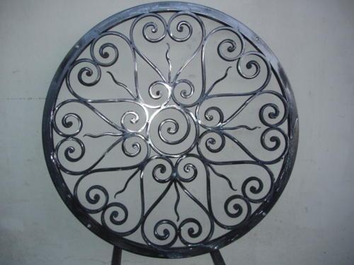 Grille de sol en ferronnerie d'art